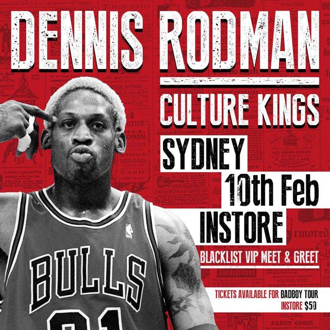 Dennis Rodman in Sydney